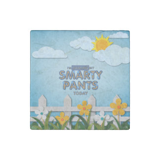 TEE Smarty Pants Stone Magnet