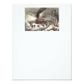 TEE Snow Train Card