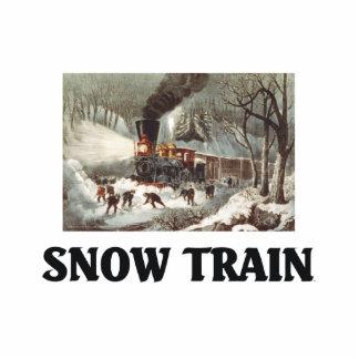 TEE Snow Train Cutout