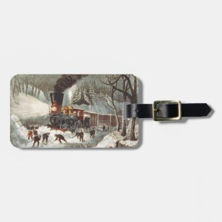 TEE Snow Train Luggage Tag