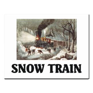 TEE Snow Train Postcard