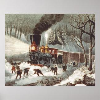 TEE Snow Train Poster