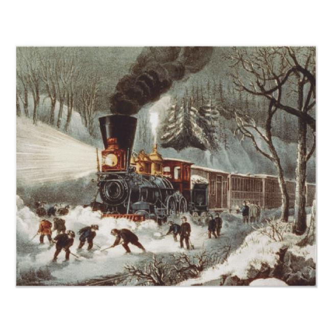 TEE Snow Train Poster