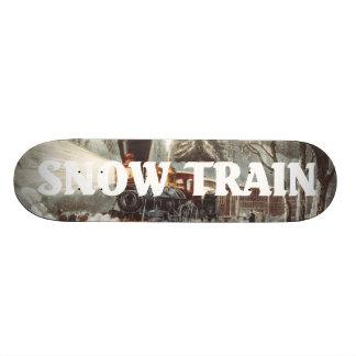 TEE Snow Train Skateboard Deck