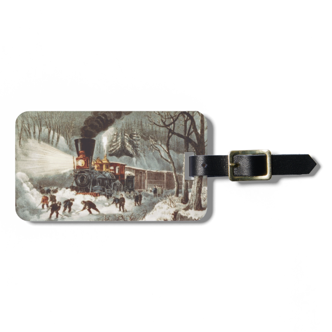 TEE Snow Train Tags For Luggage