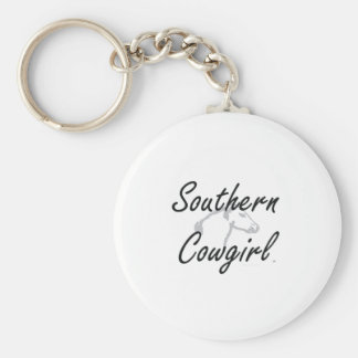 TEE Southern Cowgirl Basic Round Button Keychain