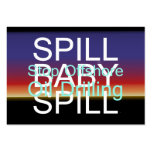 TEE Spill Baby Spill Large Business Cards (Pack Of 100)