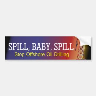 TEE Spill Baby Spill Car Bumper Sticker