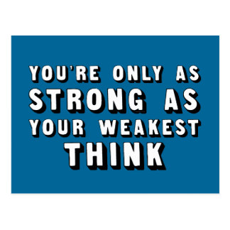 TEE Strong Think Postcard