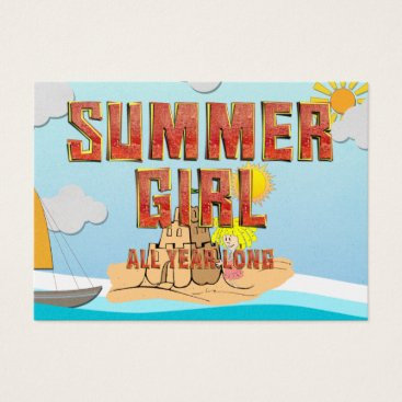 Beach Themed TEE Summer Girl Business Card