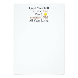 TEE Summer Girl Tan 5x7 Paper Invitation Card