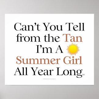 TEE Summer Girl Tan Print