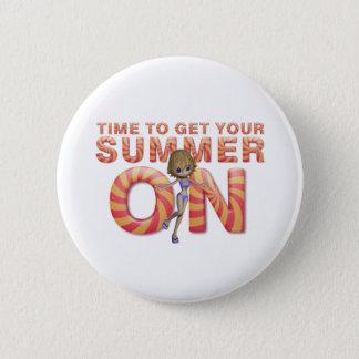 TEE Summer On Girl Button