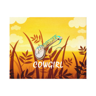 TEE Tennessee Cowgirl Canvas Print