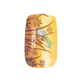 Country music nail art nail wraps zazzle tee tennessee cowgirl minx nail art prinsesfo Gallery