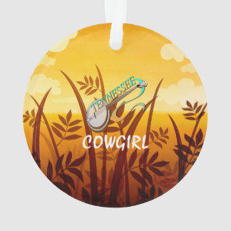 TEE Tennessee Cowgirl Ornament