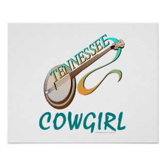 TEE Tennessee Cowgirl Print