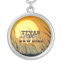 TEE Texas Cowgirl Silver Plated Necklace