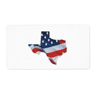 TEE Texas Patriot Label