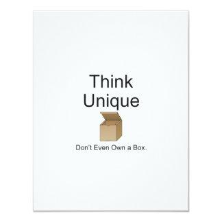 TEE Think Unique 4.25x5.5 Paper Invitation Card