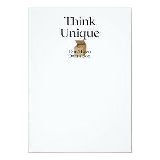 TEE Think Unique No Box Card
