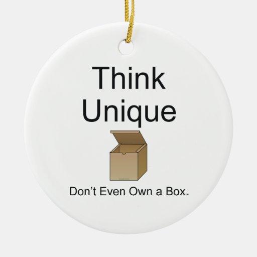 TEE Think Unique Double-Sided Ceramic Round Christmas Ornament