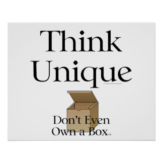 TEE Think Unique Poster