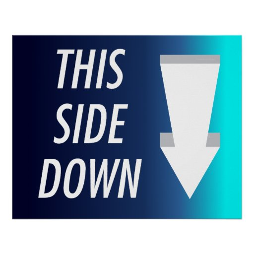 TEE This Side Down Poster