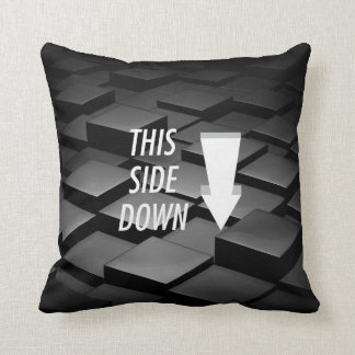 TEE This Side Down Throw Pillow