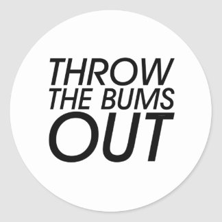 TEE Throw the Bums Out Stickers