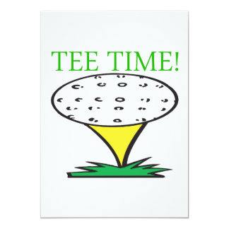 Tee Time Card