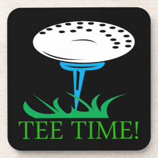 Tee Time Drink Coaster
