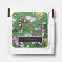 Tee Time Girly Golf Hand Sanitizer Packet
