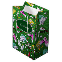 Tee Time Girly Golf Medium Gift Bag