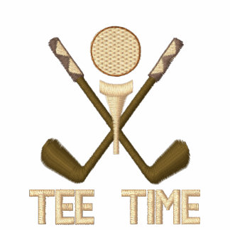 Tee Time Golf for Golfers Embroidered Shirt