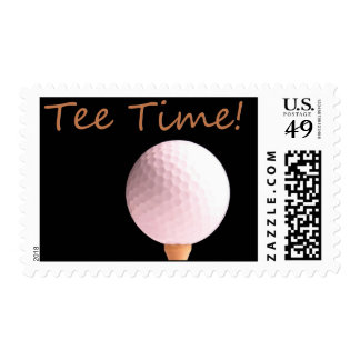 Tee Time Golf Themed Postage