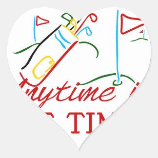 Tee Time Heart Sticker