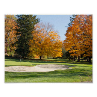 Tee Time in Autumn Poster