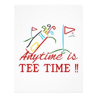Tee Time Letterhead