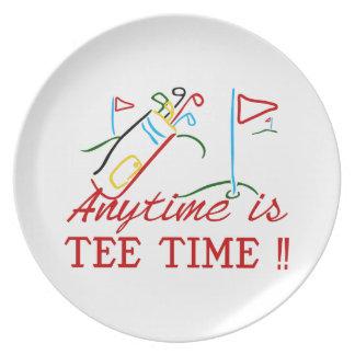 Tee Time Melamine Plate