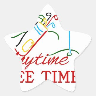 Tee Time Star Sticker