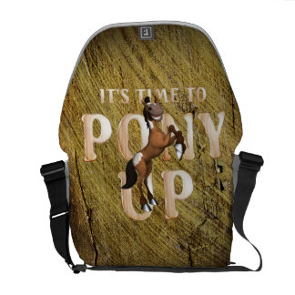 TEE Time to Pony Up Messenger Bag