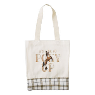 TEE Time to Pony Up Zazzle HEART Tote Bag