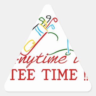 Tee Time Triangle Sticker
