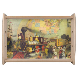 TEE Train Country Serving Tray