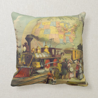 TEE Train Country Throw Pillow