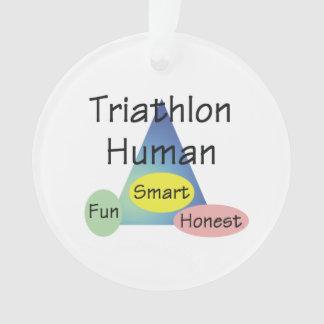 TEE Triathlon Human Ornament