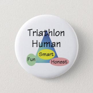 TEE Triathlon Human Pinback Button