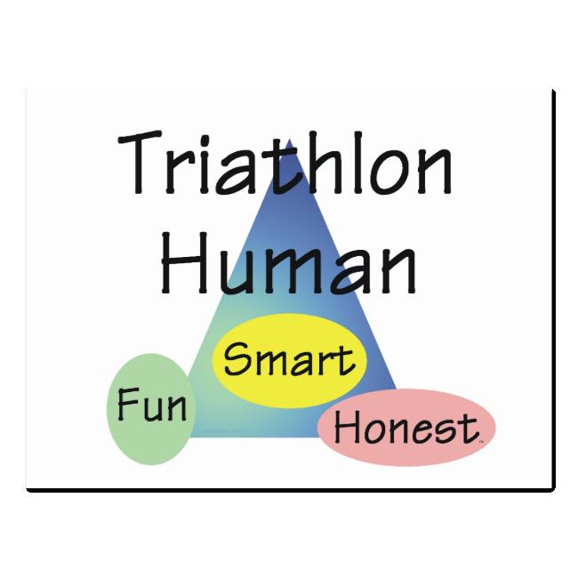 TEE Triathlon Human Postcard