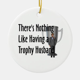 TEE Trophy Husband Ceramic Ornament